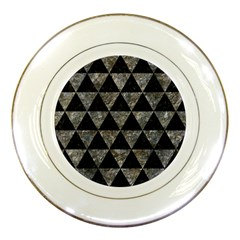 Triangle3 Black Marble & Gray Stone Porcelain Plates by trendistuff
