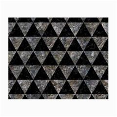 Triangle3 Black Marble & Gray Stone Small Glasses Cloth (2 Side) by trendistuff