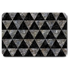 Triangle3 Black Marble & Gray Stone Large Doormat