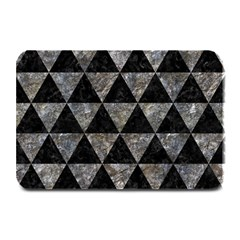 Triangle3 Black Marble & Gray Stone Plate Mats by trendistuff
