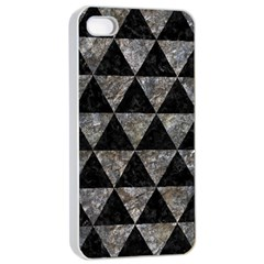 Triangle3 Black Marble & Gray Stone Apple Iphone 4/4s Seamless Case (white) by trendistuff