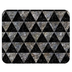 Triangle3 Black Marble & Gray Stone Double Sided Flano Blanket (medium)  by trendistuff