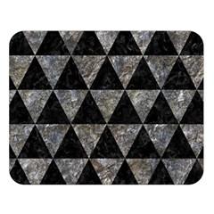 Triangle3 Black Marble & Gray Stone Double Sided Flano Blanket (large)  by trendistuff