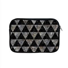 Triangle3 Black Marble & Gray Stone Apple Macbook Pro 15  Zipper Case by trendistuff