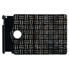 Woven1 Black Marble & Gray Stone Apple Ipad 3/4 Flip 360 Case by trendistuff