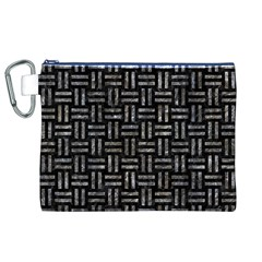 Woven1 Black Marble & Gray Stone Canvas Cosmetic Bag (xl) by trendistuff