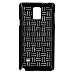 Woven1 Black Marble & Gray Stone Samsung Galaxy Note 4 Case (black) by trendistuff