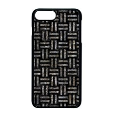 Woven1 Black Marble & Gray Stone Apple Iphone 7 Plus Seamless Case (black)