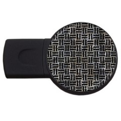 Woven1 Black Marble & Gray Stone (r) Usb Flash Drive Round (2 Gb) by trendistuff