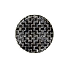 Woven1 Black Marble & Gray Stone (r) Hat Clip Ball Marker by trendistuff