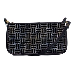 Woven1 Black Marble & Gray Stone (r) Shoulder Clutch Bags by trendistuff