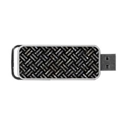 Woven2 Black Marble & Gray Stone Portable Usb Flash (two Sides) by trendistuff
