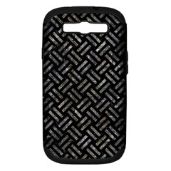 Woven2 Black Marble & Gray Stone Samsung Galaxy S Iii Hardshell Case (pc+silicone) by trendistuff