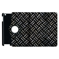 Woven2 Black Marble & Gray Stone Apple Ipad 2 Flip 360 Case by trendistuff