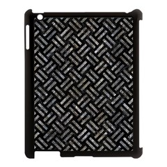 Woven2 Black Marble & Gray Stone Apple Ipad 3/4 Case (black) by trendistuff