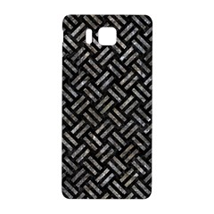 Woven2 Black Marble & Gray Stone Samsung Galaxy Alpha Hardshell Back Case by trendistuff