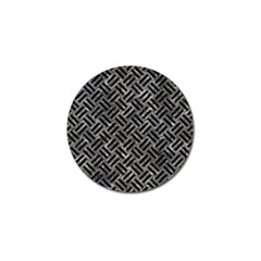 Woven2 Black Marble & Gray Stone (r) Golf Ball Marker (4 Pack) by trendistuff