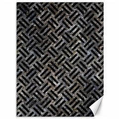Woven2 Black Marble & Gray Stone (r) Canvas 36  X 48   by trendistuff
