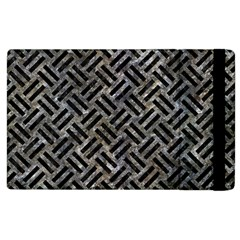 Woven2 Black Marble & Gray Stone (r) Apple Ipad 2 Flip Case by trendistuff