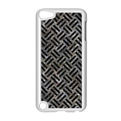 Woven2 Black Marble & Gray Stone (r) Apple Ipod Touch 5 Case (white) by trendistuff