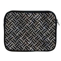 Woven2 Black Marble & Gray Stone (r) Apple Ipad 2/3/4 Zipper Cases by trendistuff