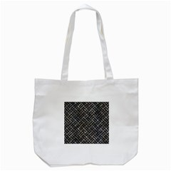 Woven2 Black Marble & Gray Stone (r) Tote Bag (white) by trendistuff