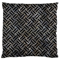 Woven2 Black Marble & Gray Stone (r) Standard Flano Cushion Case (one Side) by trendistuff