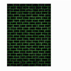 Brick1 Black Marble & Green Brushed Metal Large Garden Flag (two Sides) by trendistuff