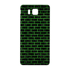 Brick1 Black Marble & Green Brushed Metal Samsung Galaxy Alpha Hardshell Back Case by trendistuff