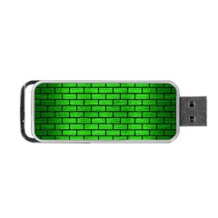 Brick1 Black Marble & Green Brushed Metal (r) Portable Usb Flash (two Sides) by trendistuff