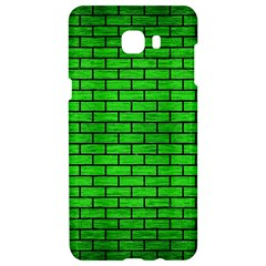 Brick1 Black Marble & Green Brushed Metal (r) Samsung C9 Pro Hardshell Case  by trendistuff