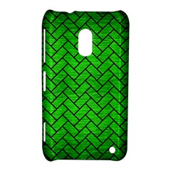 Brick2 Black Marble & Green Brushed Metal (r) Nokia Lumia 620 by trendistuff