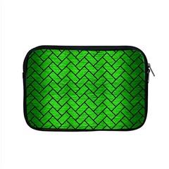 Brick2 Black Marble & Green Brushed Metal (r) Apple Macbook Pro 15  Zipper Case by trendistuff