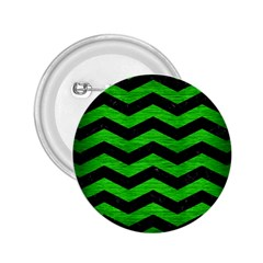 Chevron3 Black Marble & Green Brushed Metal 2 25  Buttons