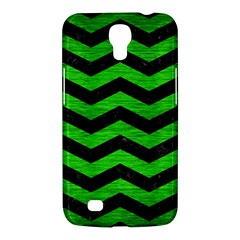 Chevron3 Black Marble & Green Brushed Metal Samsung Galaxy Mega 6 3  I9200 Hardshell Case by trendistuff