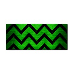 Chevron9 Black Marble & Green Brushed Metal (r) Cosmetic Storage Cases by trendistuff