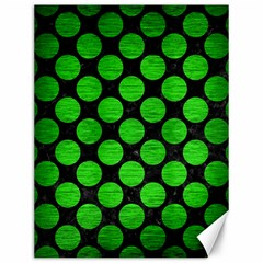Circles2 Black Marble & Green Brushed Metal Canvas 12  X 16   by trendistuff