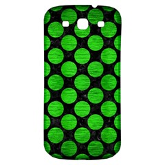 Circles2 Black Marble & Green Brushed Metal Samsung Galaxy S3 S Iii Classic Hardshell Back Case by trendistuff