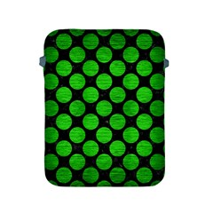 Circles2 Black Marble & Green Brushed Metal Apple Ipad 2/3/4 Protective Soft Cases by trendistuff