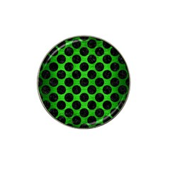 Circles2 Black Marble & Green Brushed Metal (r) Hat Clip Ball Marker (10 Pack) by trendistuff