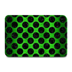 Circles2 Black Marble & Green Brushed Metal (r) Plate Mats by trendistuff