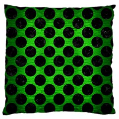Circles2 Black Marble & Green Brushed Metal (r) Standard Flano Cushion Case (one Side) by trendistuff