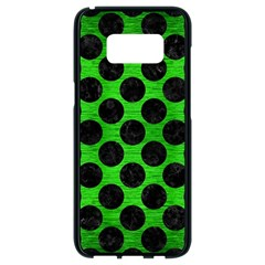 Circles2 Black Marble & Green Brushed Metal (r) Samsung Galaxy S8 Black Seamless Case by trendistuff