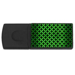 Circles3 Black Marble & Green Brushed Metal Rectangular Usb Flash Drive by trendistuff