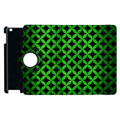 Circles3 Black Marble & Green Brushed Metal Apple Ipad 2 Flip 360 Case by trendistuff