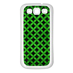 Circles3 Black Marble & Green Brushed Metal Samsung Galaxy S3 Back Case (white) by trendistuff