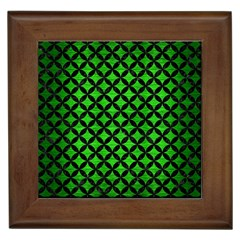 Circles3 Black Marble & Green Brushed Metal (r) Framed Tiles by trendistuff