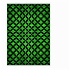 Circles3 Black Marble & Green Brushed Metal (r) Large Garden Flag (two Sides) by trendistuff