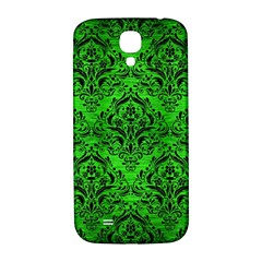 Damask1 Black Marble & Green Brushed Metal (r) Samsung Galaxy S4 I9500/i9505  Hardshell Back Case
