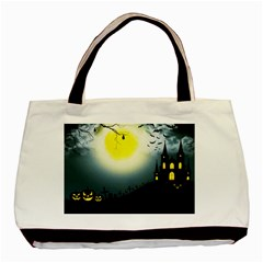 Halloween Landscape Basic Tote Bag by Valentinaart